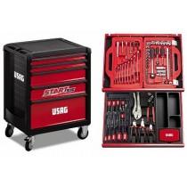 USAG Start 5-drawer Trolley - with 146 pcs tool set