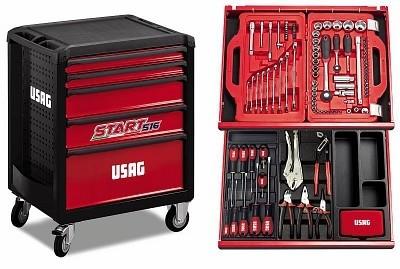 Carrello USAG 516 Start 5 cassetti - con kit da 146 pezzi