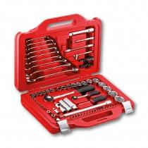 Assortimento con bussole esagonali e chiavi combinate - USAG 601 1/4-1/2 J82