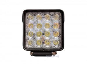 Faro lavoro spot a LED quadrato - 25W 3040lm
