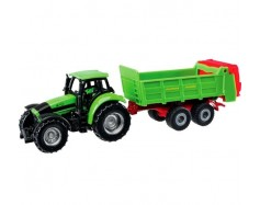 Modellino trattore Deutz-Fahr Agrotron con rimorchio