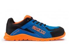 Scarpa antinfortunistica Sparco Practice S1P - Azzurro-arancio